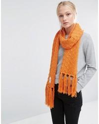 Écharpe en tricot orange Cheap Monday