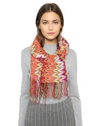 Écharpe en tricot orange Missoni