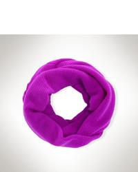Écharpe en tricot pourpre