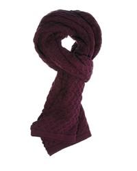 Écharpe en tricot pourpre Selected