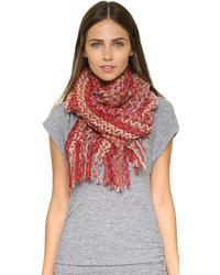 Écharpe en tricot rouge Missoni