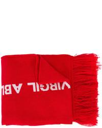 Écharpe en tricot rouge Off-White