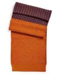 Écharpe en tricot tabac