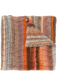 Écharpe en tricot tabac Missoni