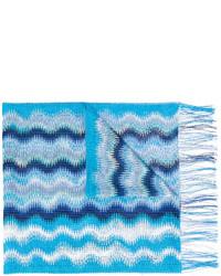 Écharpe en tricot turquoise Missoni