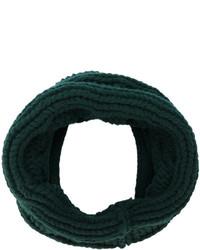Écharpe en tricot vert foncé Balmain