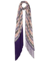 Écharpe en tricot violet clair Missoni