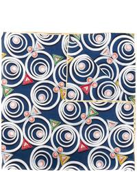 Écharpe géométrique bleue marine Fendi