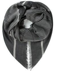Écharpe géométrique gris foncé Chanel