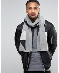 Écharpe géométrique grise Asos
