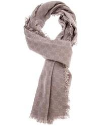 Écharpe géométrique grise Gucci
