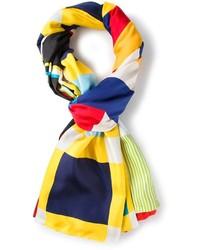 Écharpe géométrique multicolore