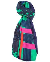 Écharpe géométrique multicolore Pierre Louis Mascia