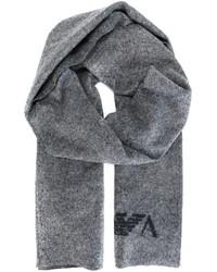 Écharpe grise Emporio Armani