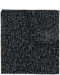 Écharpe imprimé noir Saint Laurent