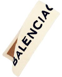Écharpe imprimée beige Balenciaga