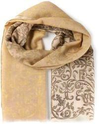 Écharpe imprimée beige Canali