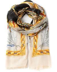 Écharpe imprimée beige Versace