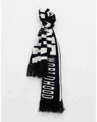Écharpe imprimée blanche et noire