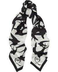Écharpe imprimée blanche et noire MCQ