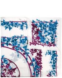 Écharpe imprimée blanche Versace