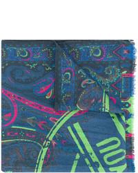 Écharpe imprimée bleu canard Etro