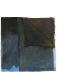 Écharpe imprimée bleu canard Stella McCartney