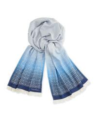 Écharpe imprimée bleu clair