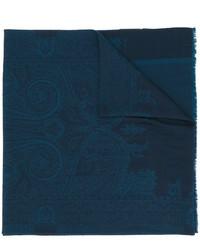 Écharpe imprimée bleu marine Etro