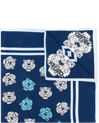 Écharpe imprimée bleu marine Kenzo