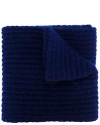 Écharpe imprimée bleu marine Marni