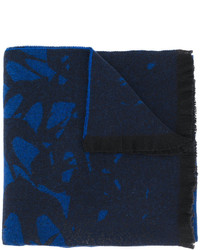 Écharpe imprimée bleu marine MCQ