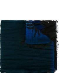 Écharpe imprimée bleu marine Saint Laurent