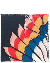 Écharpe imprimée bleu marine Stella McCartney