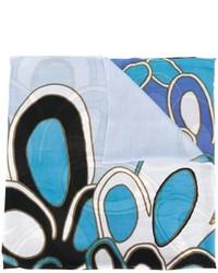 Écharpe imprimée bleue claire Diane von Furstenberg