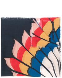 Écharpe imprimée bleue marine Stella McCartney