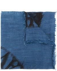 Écharpe imprimée bleue Diesel