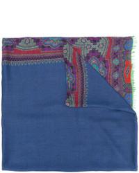 Écharpe imprimée bleue Etro