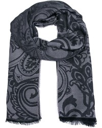 Écharpe imprimée cachemire grise Etro