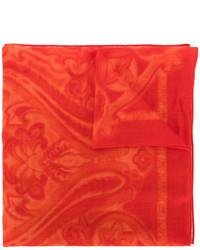 Écharpe imprimée cachemire rouge Etro