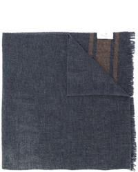 Écharpe imprimée gris foncé Brunello Cucinelli