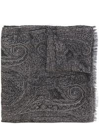 Écharpe imprimée gris foncé Etro