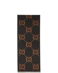Écharpe imprimée gris foncé Gucci
