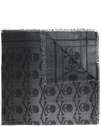 Écharpe imprimée gris foncé Philipp Plein