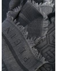 Écharpe imprimé gris foncé Philipp Plein