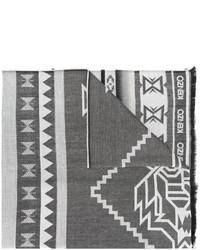 Écharpe imprimée grise foncée Kenzo