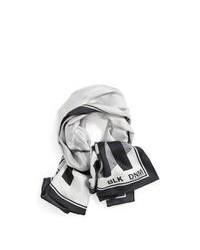 Écharpe imprimée grise