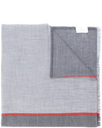 Écharpe imprimée grise Brunello Cucinelli