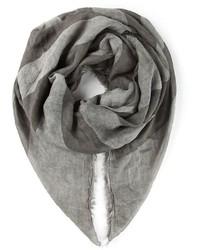 Écharpe imprimée grise John Varvatos
