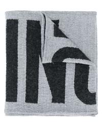 Écharpe imprimée grise Moschino